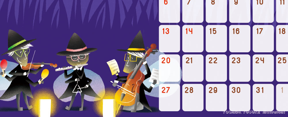 チャリティカレンダー10月