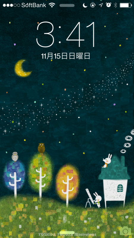 iPhone壁紙11月 milkey way