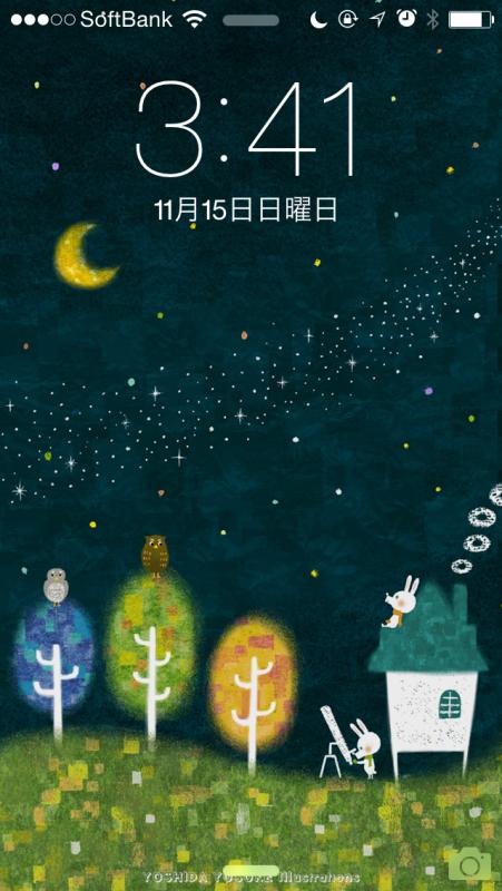 iPhone壁紙11月 milkey way
