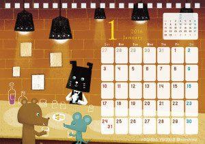 2016 チャリティーカレンダー 1月