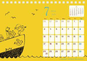 2016 チャリティーカレンダー 7月