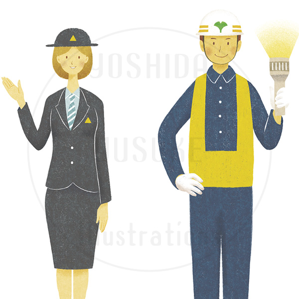 コンペ用人物画(イラスト素材)