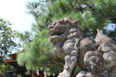 大将軍八神社の狛犬写真