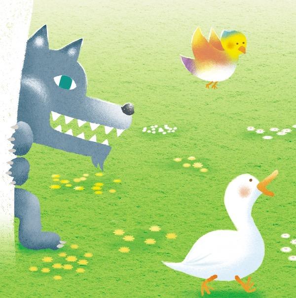 C-Studioパンフレットイラスト「ピーターと狼」