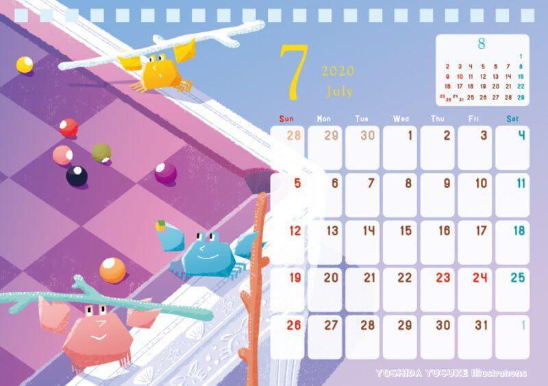 2020 チャリティー星座カレンダー 7月 蟹座 かに座